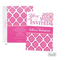 Flower Mosaic Bridal Shower Invitation