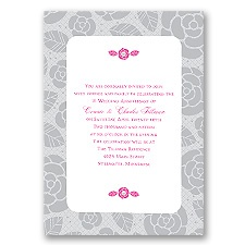Rosy Memories Anniversary Invitation