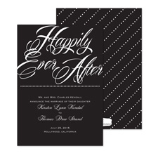 Happily Marriage Announcement - Black