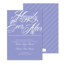 Happily Marriage Announcement - Orchid