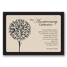 Celebration Tree Anniversary Invitation