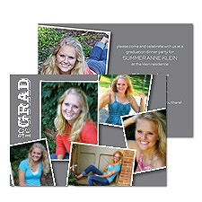 Picture Collage Photo Graduation Announcement