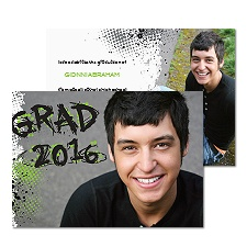 Graffiti Grad Photo Graduation Announcement - Spring
