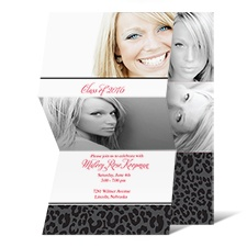Living Wild Photo Graduation Announcement - Black