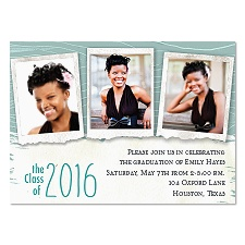 Scrapbook Look Photo Graduation Announcement