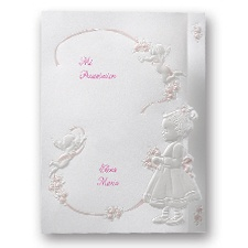 Cherub Girl Baptism Invitation