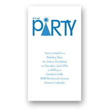 Party Hat Birthday Invitation