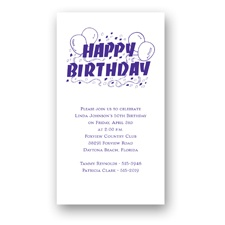 Festive Balloons Birthday Invitation