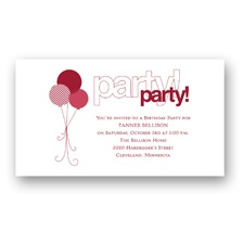 Party Party Birthday Invitation