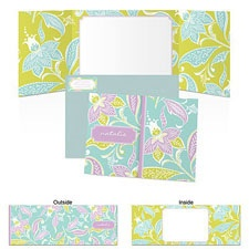 Nouveau Flowers Note Card