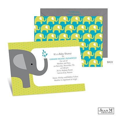 Baby Shower Elephant Favors on Home    Occasions    Baby Shower    Elephant Baby Shower Invitation