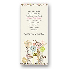 Whimsical Posies Bridal Shower Invitation
