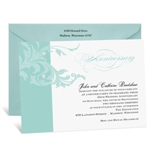 Elegant Flourish Anniversary Invitation