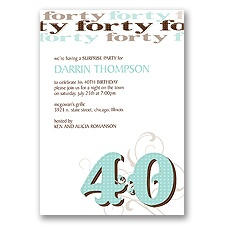Fun 40 Birthday Invitation