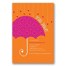Bright Umbrella Bridal Shower Invitation