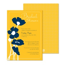 Pretty Poppies Bridal Shower Invitation - Marigold