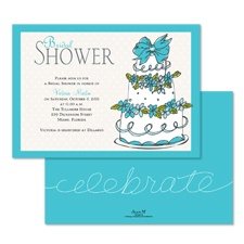 Take the Cake Bridal Shower Invitation - Poolside