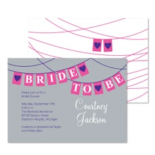 Banner Bride Bridal Shower Invitation