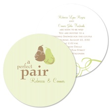 Perfect Pair Bridal Shower Invitation