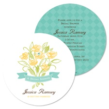 Whimsy Bouquet Bridal Shower Invitation - Surf