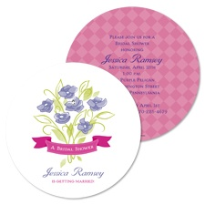 Whimsy Bouquet Bridal Shower Invitation - Raspberry