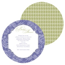 Floral Houndstooth Bridal Shower Invitation - Lilac