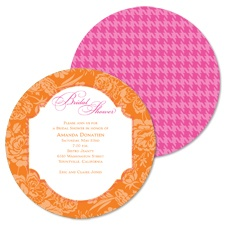 Floral Houndstooth Bridal Shower Invitation - Poppy