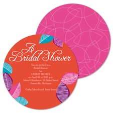 Leafy Color Bridal Shower Invitation
