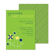 Growing Posies Baby Shower Invitation - Spring