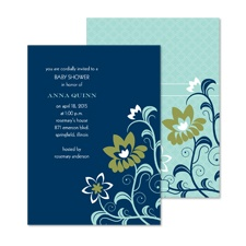 Exotic Flowers Baby Shower Invitation