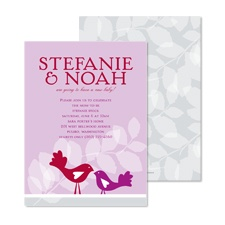 Nesting Baby Shower Invitation - Amethyst