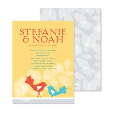 Nesting Baby Shower Invitation - Canary