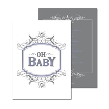 Little Vintage Baby Shower Invitation - Orchid