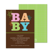 Sweet Patterns Baby Shower Invitation