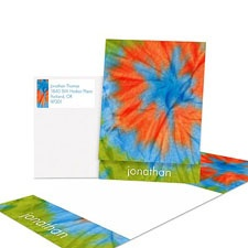 Cool Tie Dye Note Card