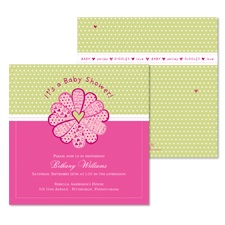 Lovely Petals Baby Shower Invitation