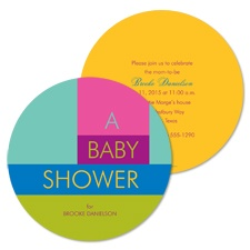 Catchy Colors Baby Shower Invitation