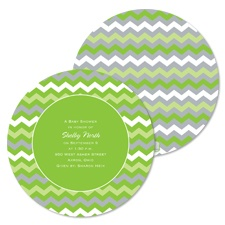 Cute Chevron Baby Shower Invitation - Spring