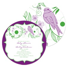 Birdsong Baby Shower Invitation - Grapevine
