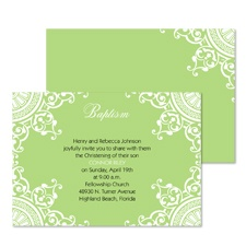 Bits of Lace Baptism Invitation - Spring