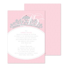Sweet Tiara Quinceanera Invitation