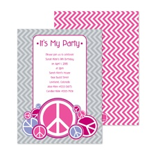 Peace Party Birthday Invitation