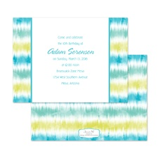 Tie Dye Stripes Birthday Invitation