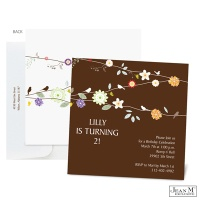 Daisy Chain Birthday Invitation