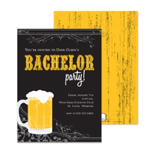 Brewing Up Bachelor Party Invitation