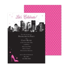 On the Town Bachelorette Party Invitation