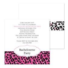 Jungle Girl Bachelorette Party Invitation