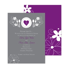 Romantic Dinner Rehearsal Dinner Invitation - Grapevine