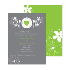 Romantic Dinner Rehearsal Dinner Invitation - Spring