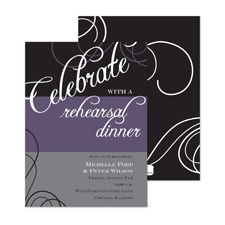 Celebrate Swirls Rehearsal Dinner Invitation